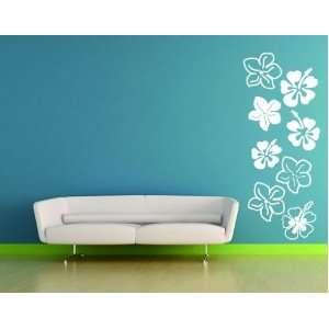 Hibiscus Flowers   Vinyl Wall Decal