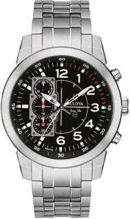 Bulova Marine Star Black Dial Mens Watch 96A116