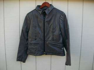 Taurus Gray Leather Motorcycle Jacket/Coat Size 40 Medium