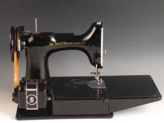 Vintage Singer Featherweight Portable Electric Sewing Machine Model