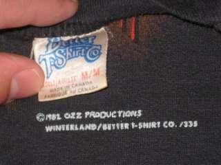 RARE VTG OZZY OSBOURNE 1982 SWEATSHIRT CONCERT 80S ORIGINAL MUSCLE T