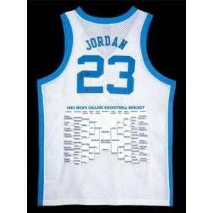 Autographed Michael Jordan Jersey   North Carolina Bracket