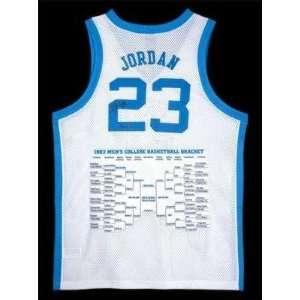 Autographed Michael Jordan Jersey   North Carolina Bracket