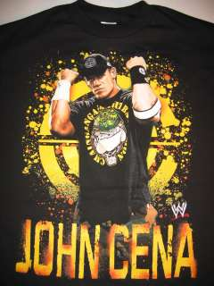 JOHN CENA Yellow Chaingang Soldier Logo WWE T shirt