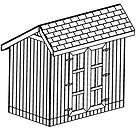 4X8 SLANT ROOF SHED, 26 CLASSIC GARDEN SHED PLANS ON CD |