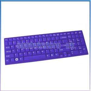 Purple Soft Keyboard Cover Skin For Sony VAIO EB 15.5