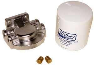 Fuel Water Seperator Filter Kit Stainless Steel Bracket 1/4 inch NPT