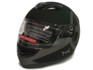 DUAL VISOR FULL FACE MOTORCYCLE HELMET W/SMOKE SUN SHIELD S~2XL