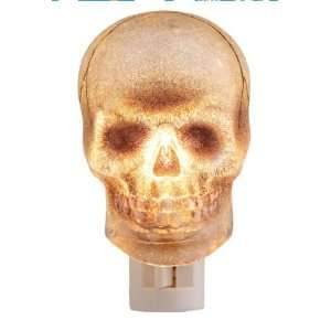 Scary SKULL beaded Gothic NIGHT LIGHT Halloween NEW: Home
