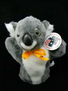 Souvenir Australian Koala Play Hand Puppet Soft Plush Toy NEW