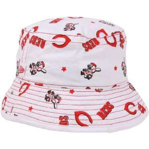New Era Cincinnati Reds Infant Bucket Hat   White: Sports & Outdoors
