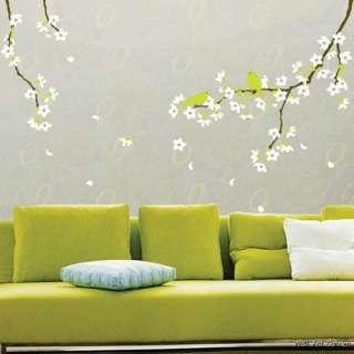 Spring Flowers &Birds Vinyl Wall Art Deco Sticker Decal