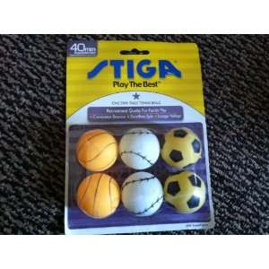 Stiga One Star Table Tennis Balls (Basketball, Baseball
