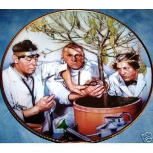 The Three Stooges Plate   Franklin Mint Collectors Plates 1994   Tree